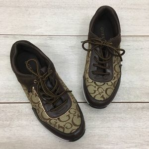 Guess | Lace Up Logo Printed Sneakers - NWOT